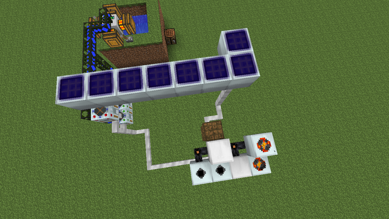 how to get power from solar panels minecraft